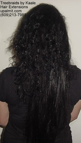 Straight Brown hair extensions for Caucasian- Back12.