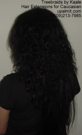 Straight Black hair extensions for Caucasian- Side12.