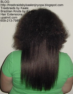 Track or Weft hair extensions- Back.
