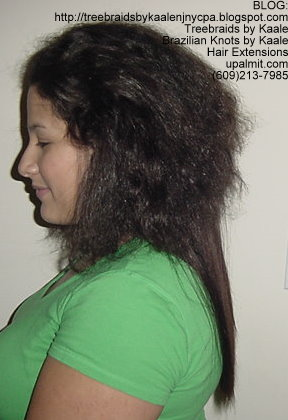 Track or Weft hair extensions- Side.