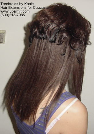 Straight Brown hair extensions for Caucasian- Side11.