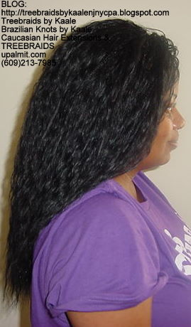 Tree Braids- Individuals, with Wet n Wavy human hair Right2237.