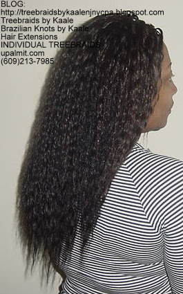 Wet and wavy Individual Treebraids, Right55.