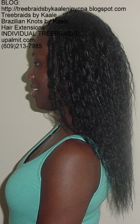 Individual Treebraids with KAALE brand Wet n Wavy human hair Left2162.