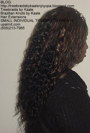 MicroSmall Individual Treebraids with hair extensions in back Right2146.