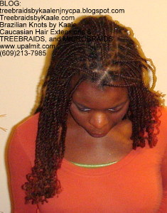 Senegalese Twists, basic style Front4NJ.