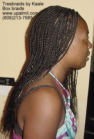 Long Box Braids in NJ, Right view.