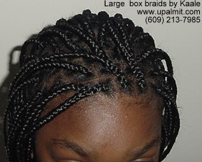Large Box Braids.