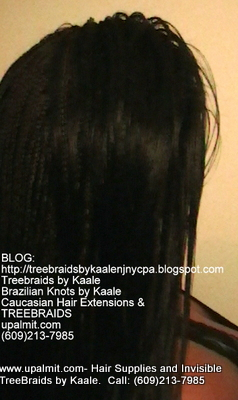 Long Box Braids with Treebraids on top in NJ, Right.