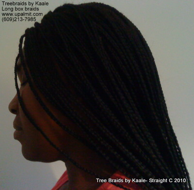 Box braids, Left close up 2.