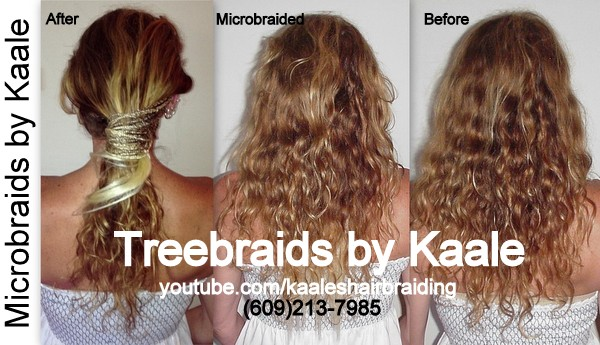 Microbraids and Treebraids by Kaale, Before and After Wall Street Me BraidsOrgasm(SM) 104.