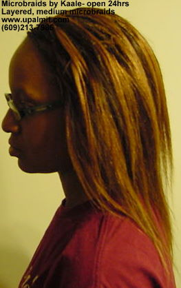 Microbraids, medium sized microbraids in NJ, side view 6.