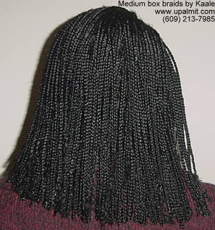 Box braids by Kaale, in NJ- back view.