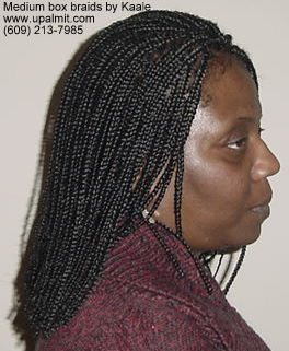 Box braids by Kaale, in NJ- side view.