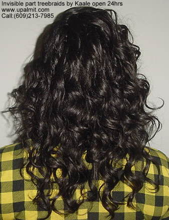 Treebraids by Kaale- curly hair, back view.