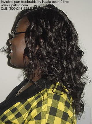 Treebraids by Kaale- curly hair, side view.