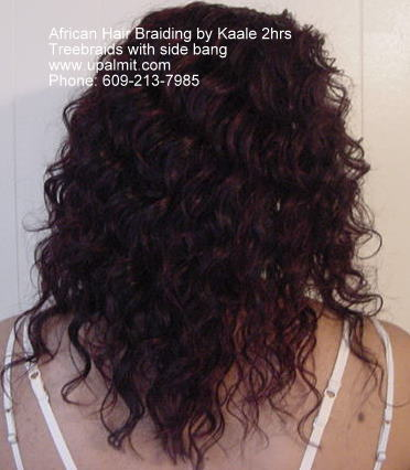 Treebraids with side bang by Kaale- NJ, PA, NY, DE, back view.