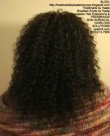 Tree Braids- Cornrows with fluffy Kinky Curly human hair Back2316.