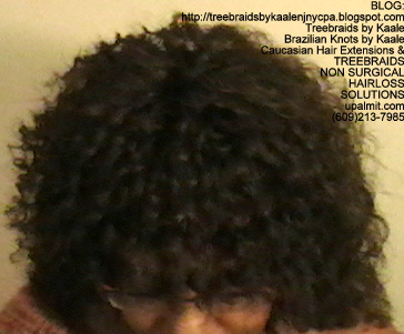 Tree Braids- Cornrows with fluffy Kinky Curly human hair Top2319.