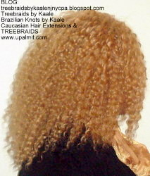 Tree Braids- Cornrows with fluffy Kinky Curly human hair After Right.