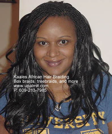 Box braids with Outre(R) brand hair, feels softer, silkier.