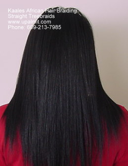 Straight treebraids hair style by Kaale (609) 606-2893.