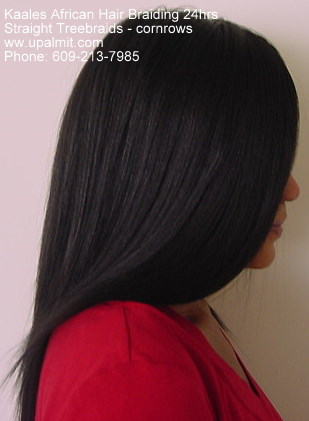 Treebraids with straight hair by Kaale (609) 606-2893.