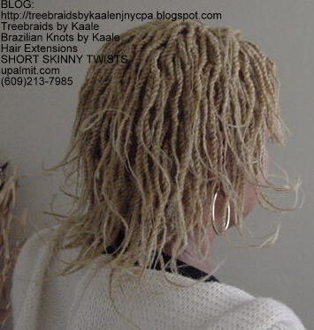 Short kinky twists with Kinky Bulk Right203.
