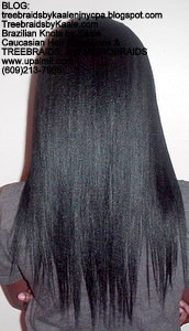Tree Braids by Kaale- Cornrows with Straight Yaky hair Back2722.