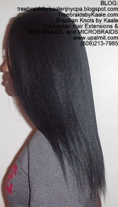 Tree Braids by Kaale- Cornrows with Straight Yaky hair Left2723.