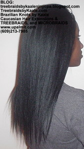 Tree Braids by Kaale- Cornrows with Straight Yaky hair Right2724.