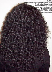 Tree Braids by Kaale, individual treebraids with deep bulk hair Fr2 Back.