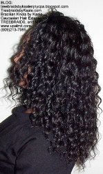Tree Braids by Kaale, individual treebraids with deep bulk hair Fr2 Left2244.