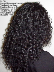 Tree Braids by Kaale, individual treebraids with deep bulk hair Fr2 Right2245.
