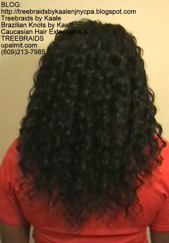 Tree Braids- Cornrows with Kaale brand deep Bulk human hair Back2383.
