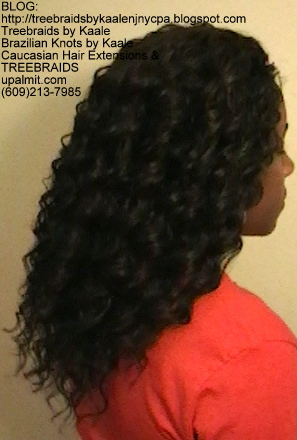 Tree Braids- Cornrows with Kaale brand deep Bulk human hair, Long Right2385.
