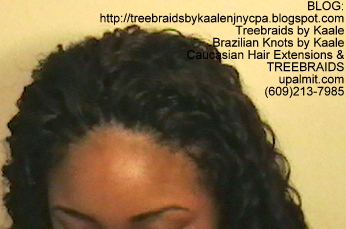 Tree Braids- Cornrows with Kaale brand deep Bulk human hair, Long Top2386.