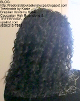 Tree Braids- Cornrows with Kaale brand Wavy human hair, Back2391.