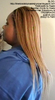 Tree Braids- Cornrows with straight human hair Left2396.