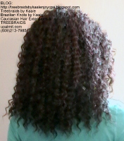 Tree Braids- Cornrows with Wavy Deep Bulk human hair, Back2403.