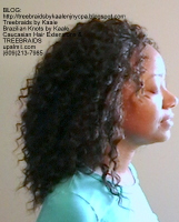 Tree Braids- Cornrows with Wavy Deep Bulk human hair, Right2404.