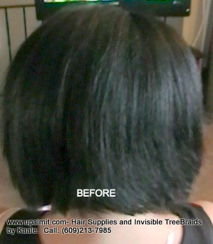 Tree Braids- Cornrows with Wavy human hair, BEFORFE2359