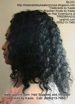 Tree Braids- Cornrows with Wavy human hair, Left2360.