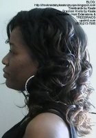 Tree Braids- Cornrows with wavy hair, Left2409.