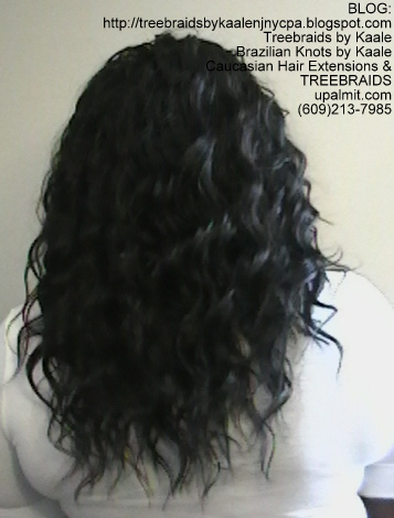 Tree Braids- Cornrows with Wavy human hair Back2296.