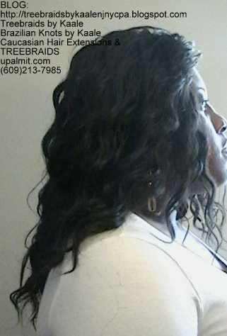 Tree Braids- Cornrows with Wavy human hair Right2298.