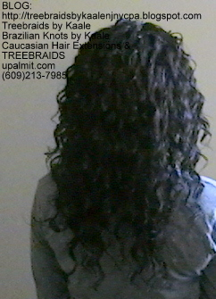 Tree Braids Wavy human hair Back342.