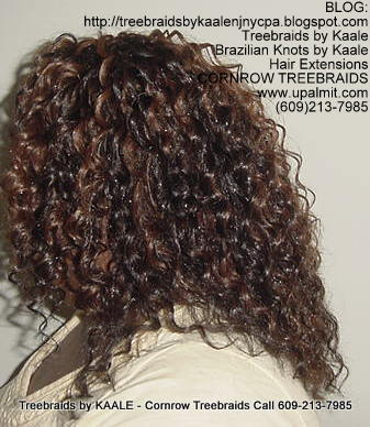 Tree Braids using KAALE Brand Deep Bulk human hair Left210.