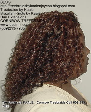 Tree Braids using KAALE Brand Deep Bulk human hair Right211.