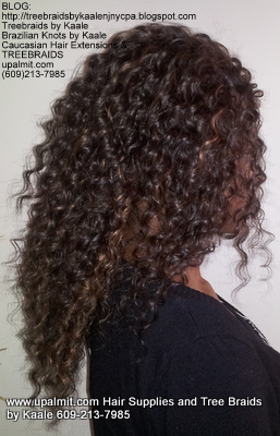 Tree Braids- Cornrows with Wavy human hair Right2302.